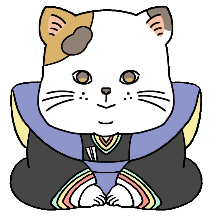 猫の福助のイラスト