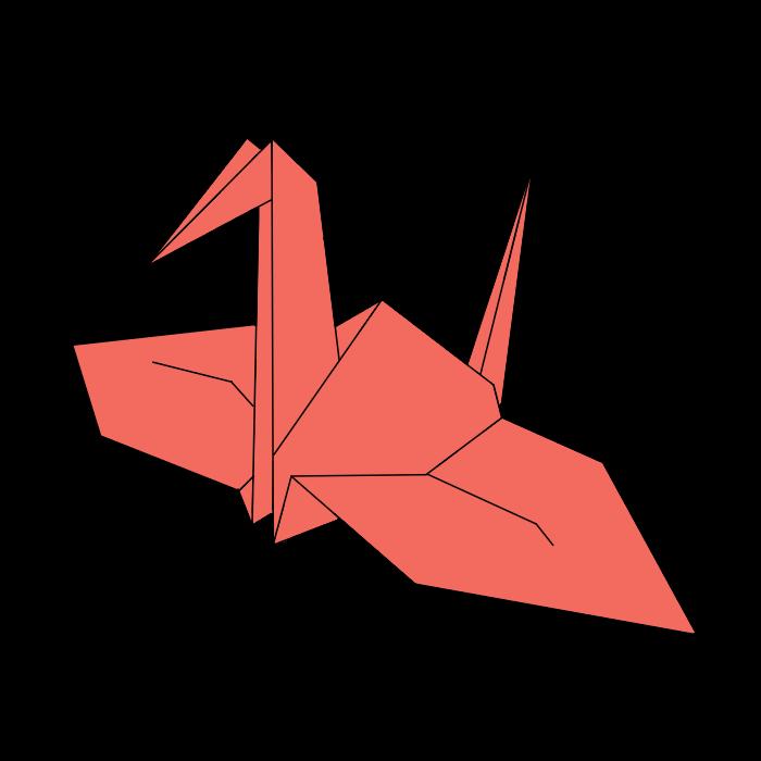 折鶴の無料イラスト