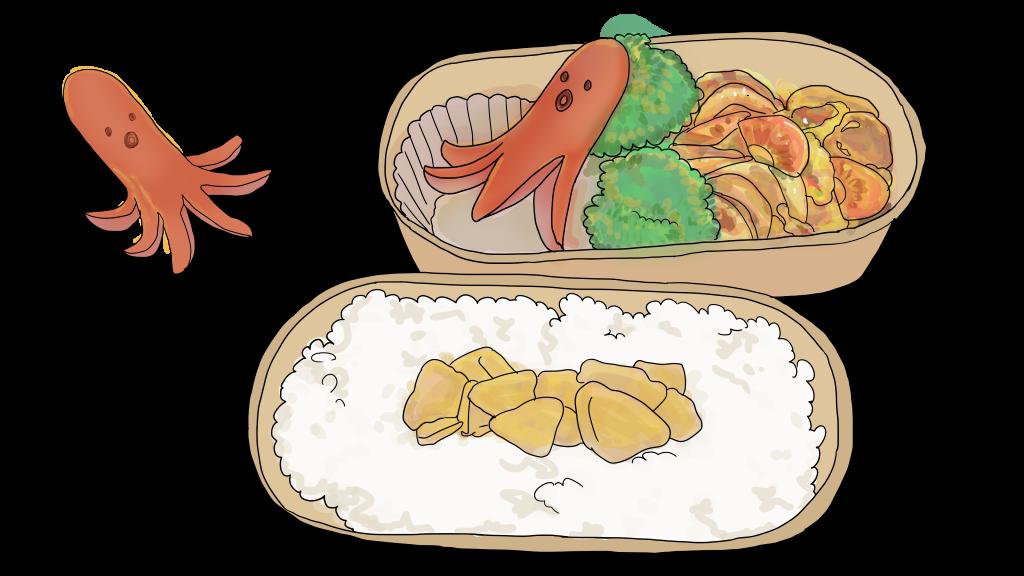 お弁当の無料イラスト