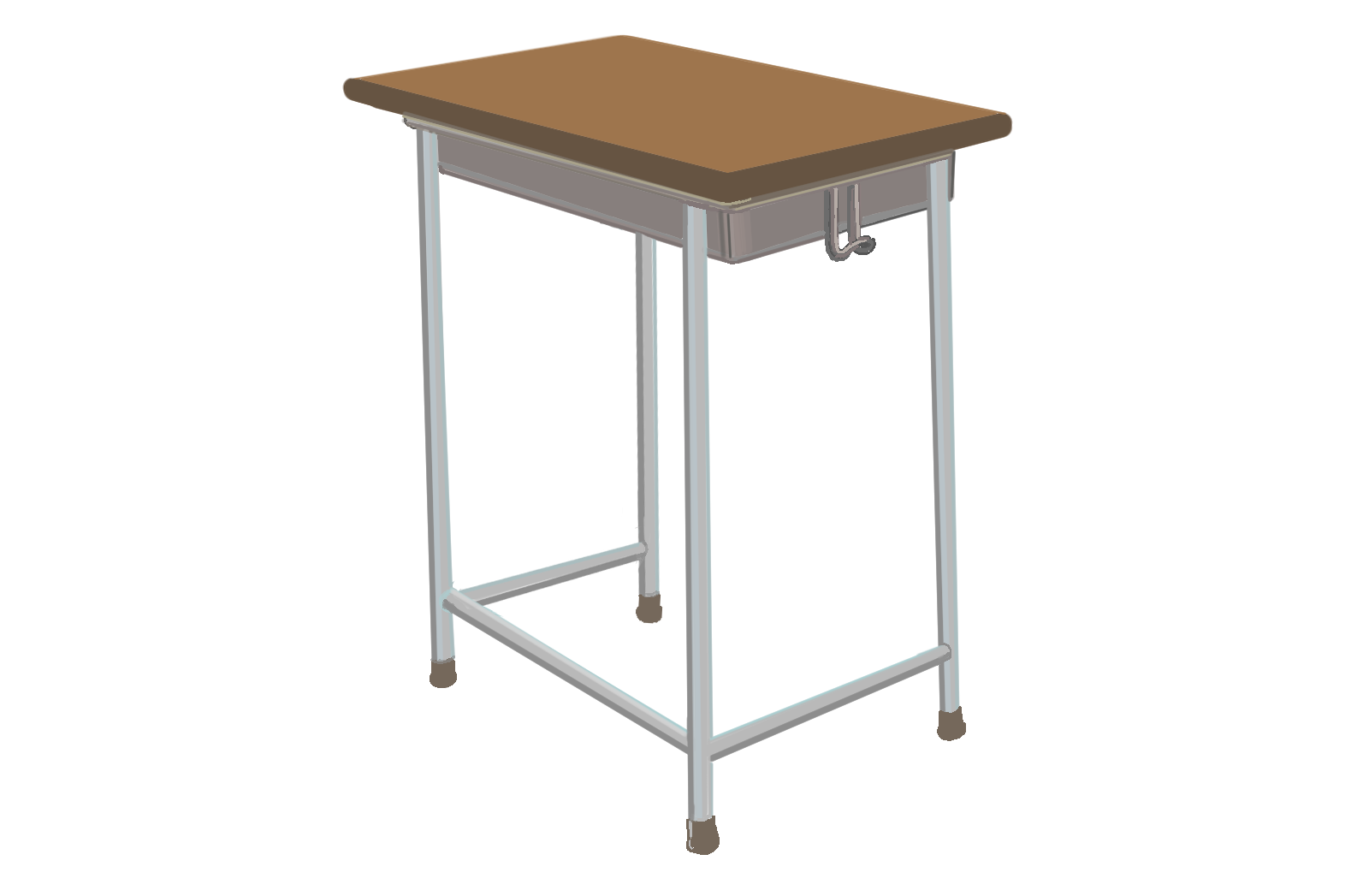 学校の机のフリーイラスト