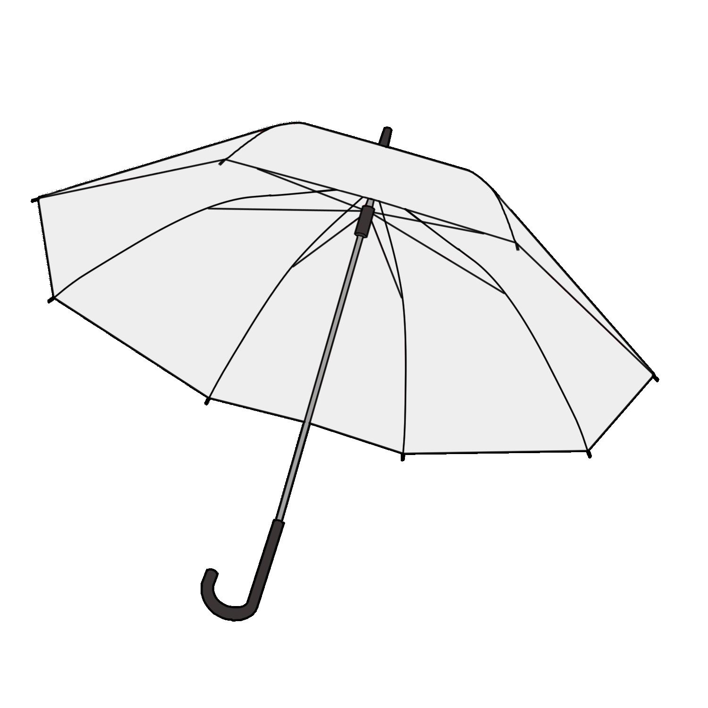 ビニール傘のフリーイラスト