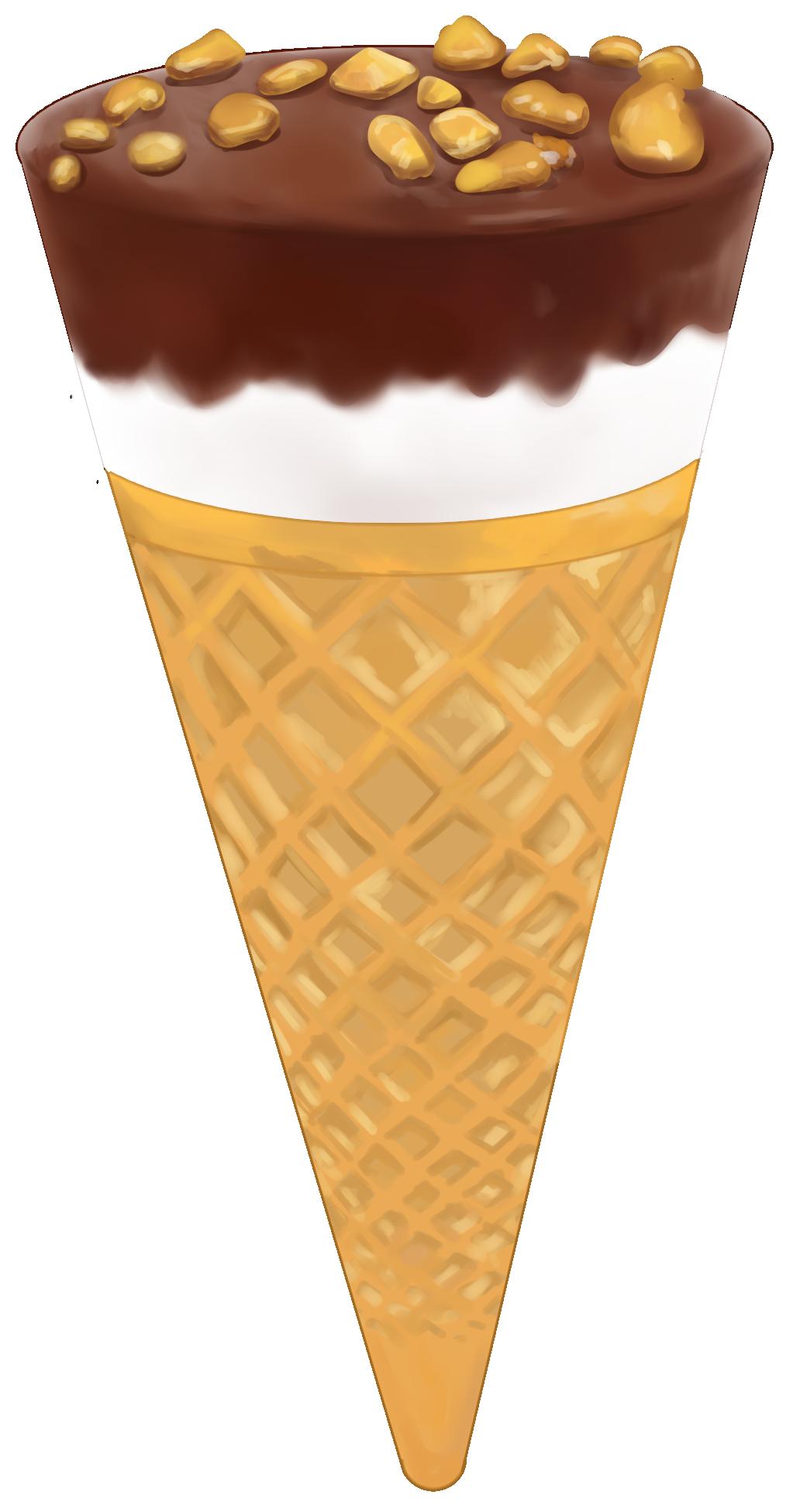 チョコアイスの無料イラスト