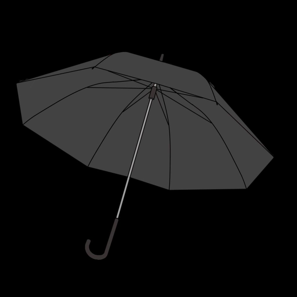 黒色の傘の無料イラスト素材