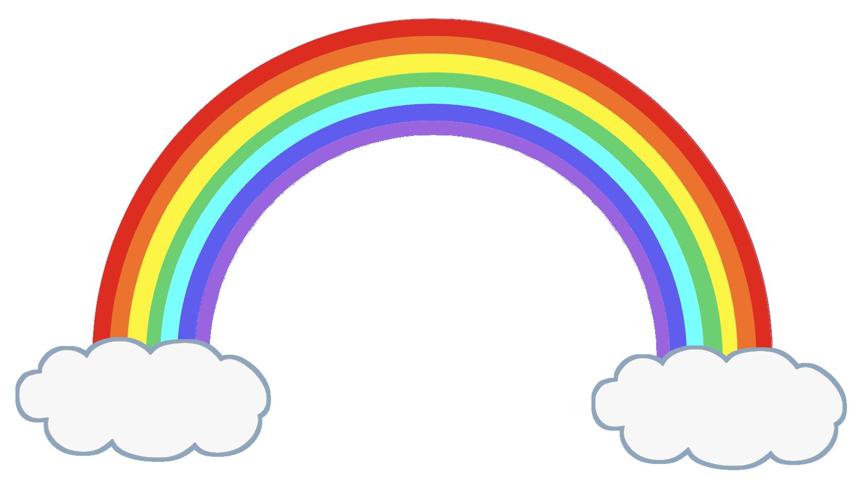 虹と雲の無料イラスト素材