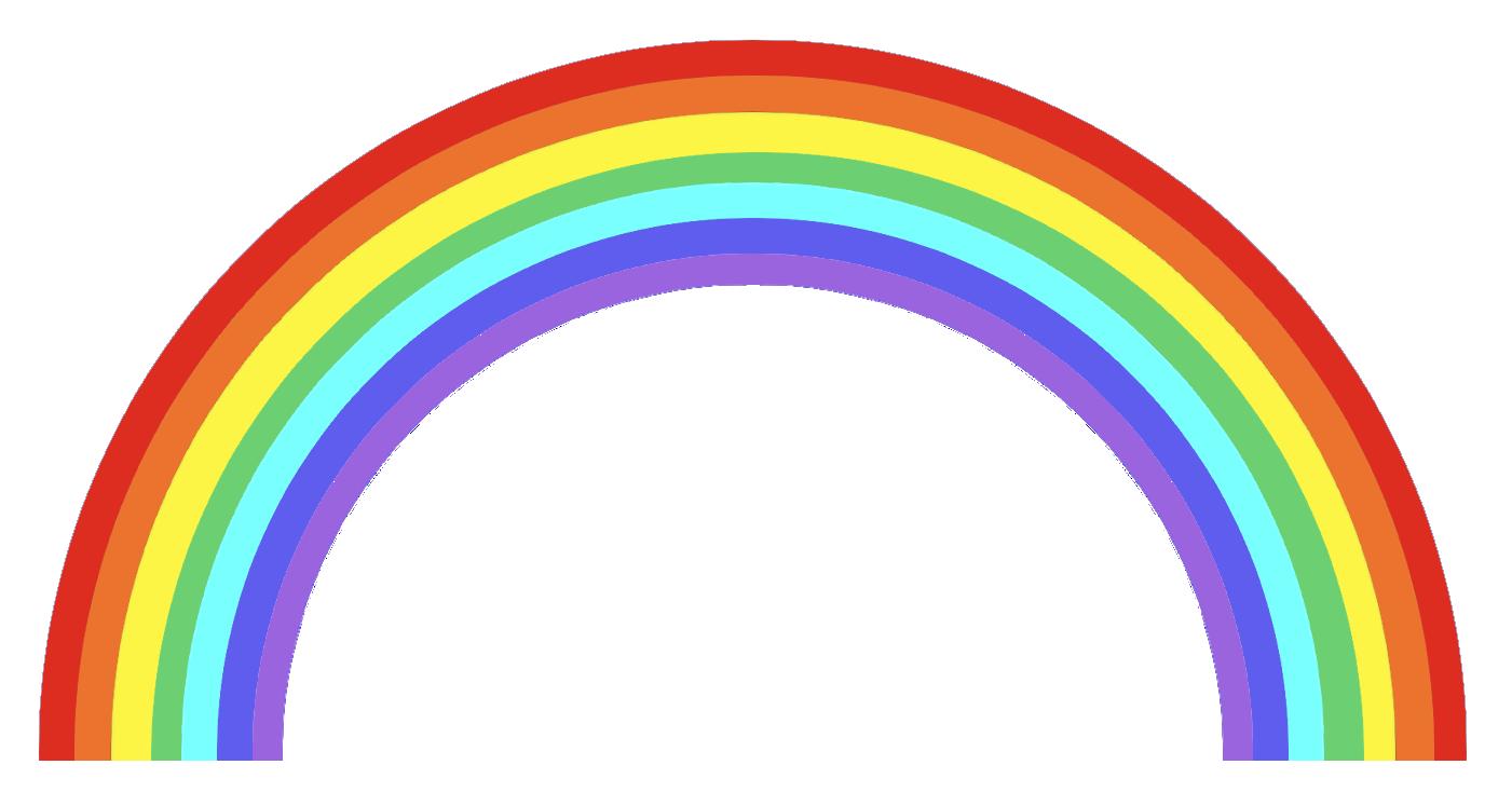 虹の無料イラスト素材