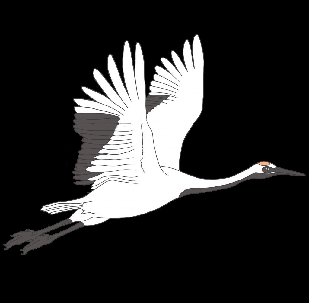 鶴の無料イラスト画像