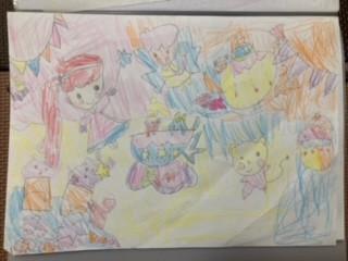 4歳女の子の描いたイラスト